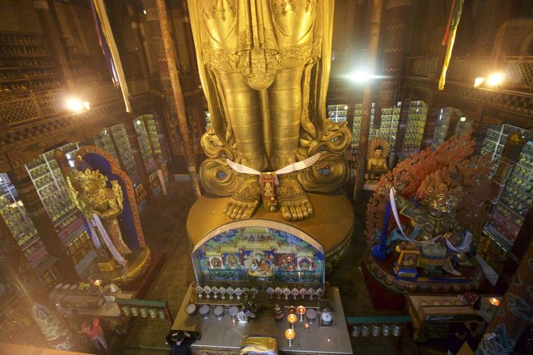 Architecture Art Art And Craft Buddha Buddhism Buddhist Temple Creativity Cultures Human Representation Indoors  Mongolia Ornate Place Of Worship Religion Sculpture Spirituality Statue Tradition