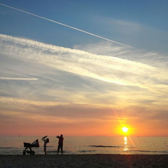 Fatherhood Moments Sepember Family Cours Autumn Sunset Landscape Perspective Sky Sea Nature Seashore Sun Water Tranquil Scene Vacations Beauty In Nature