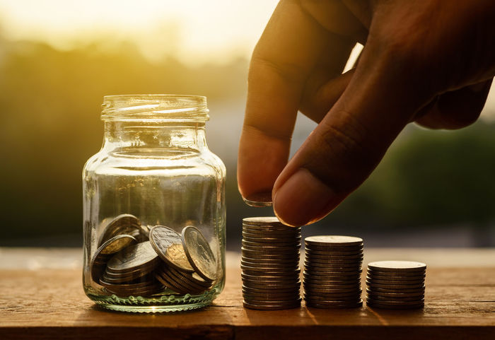 Save money and banking for finance Accountancy Business Currency Growing Growth Office Account Accountant Accounting Bank Banking Coin Concept Earnings Finance Financial Fund Income Invest Investing Investor Money person Save Saving