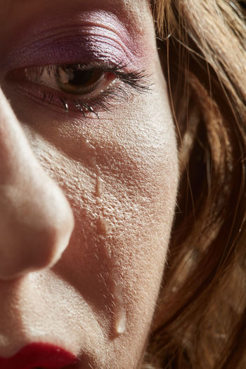 Close-up of crying woman