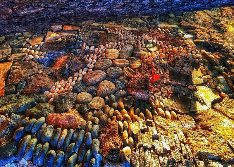 Stones Rock Backgrounds No People Day Nature Multi Colored High Angle View Pattern Outdoors Abundance Beauty In Nature Sunlight Textured  Close-up Large Group Of Objects