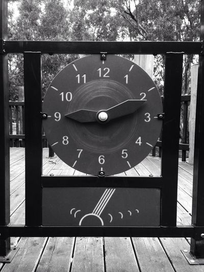 Walkies Walkabout Melbourne Time Past Passed Playground Clock Toy Blackandwhite