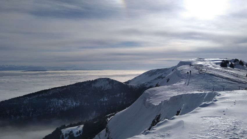Winter view from Gran Montrond, Mont Jura Nature Shades Of Winter Mountain Range Snow France Winter Outdoors