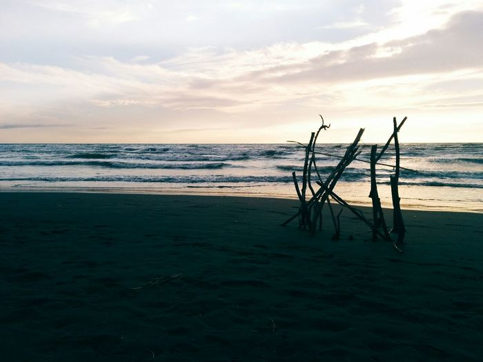 Enjoying The Sunset Waves Tuscany