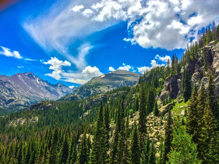 Dream Lake Trail, RMNP. Check This Out Natures Beauty Beautiful Mountain_collection Colorado RMNP Nature Photography Nature_collection Landscape Beauty In Nature Enjoying Life Mothernature Mountains And Sky Clouds Trees Estes Park, CO