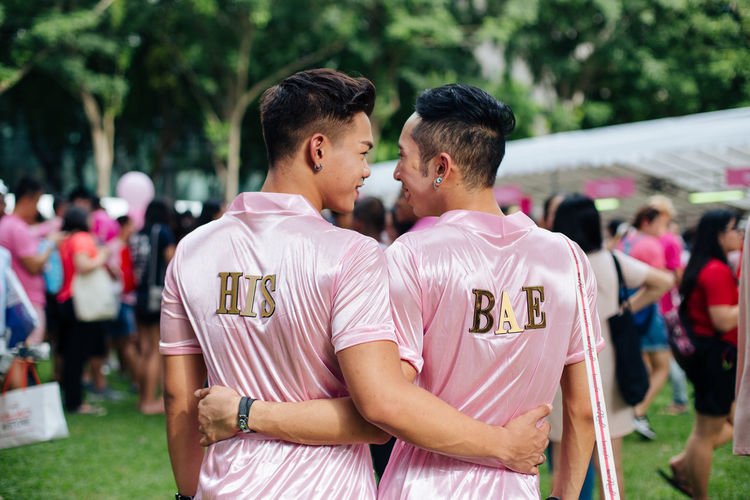 SINGAPORE - July 1, 2017: Hong Lim Park, where Pink Dot held its 9th event, is filled its complicity with Singaporeans and PRs to support the freedom to love. Over twenty-thousand of LGBTIQ and allies gathered up to make their voice loud and proud, despite the 'foreigner ban'. Couple Gay Gay Couple Gay Pride Gaymen Gaypride Hong Lim Park Lgbt Lgbt Couple Lgbt Pride LGBT Rainbows Lgbtiq Lgbtq Loveislove Lovewins Pink Dot Pinkdot Pinkdot2017 PinkDotSG Queer Singapore Singaporean Togetherness Gaypride2017 This Is Queer Focus On The Story Love Is Love