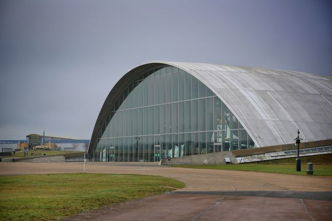 Duxford Imperial War Museum Aerial Architecture Building Exterior Built Structure Combat Plane# Concorde Concorde Plane Day Duxford Imperial War Museum F22 Raptor Grass Mig21 Nature No People Outdoors Plane Museum Planes Sky Stealth Transportation
