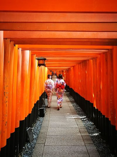 Fushimi Inari Shrine Fushimi Inari Kyoto Fushimi Inari-taisha Tori Architecture Outdoors Orange Color Tradition Geisha Nara,Japan Japan Photography Japan