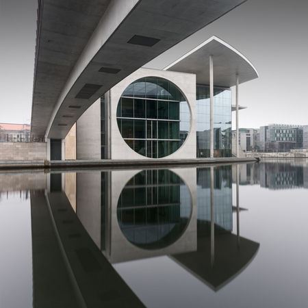 close-up of modern building against sky Berlin Government District Government Building Architecture Building Exterior Built Structure City Day Fine Art Long Exposure Modern Muted Colors No People Outdoors Philipp Dase Reflection Sky Spree River Symmetry Discover Berlin water Window Shades Of Winter An Eye For Travel The Graphic City The Traveler - 2018 EyeEm Awards