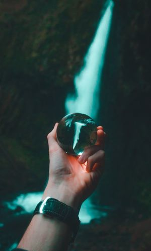 Getty Images EyeEm Best Shots Getting Inspired Explore EyeEm Gallery Eye4photography  Best Of Popular EyeEm Selects Blue Colorful Waterfall New Pretty Hand Watch Moody Nature Outdoors Outside Oregon Human Hand Human Body Part One Person People Night One Man Only Adult Water Close-up
