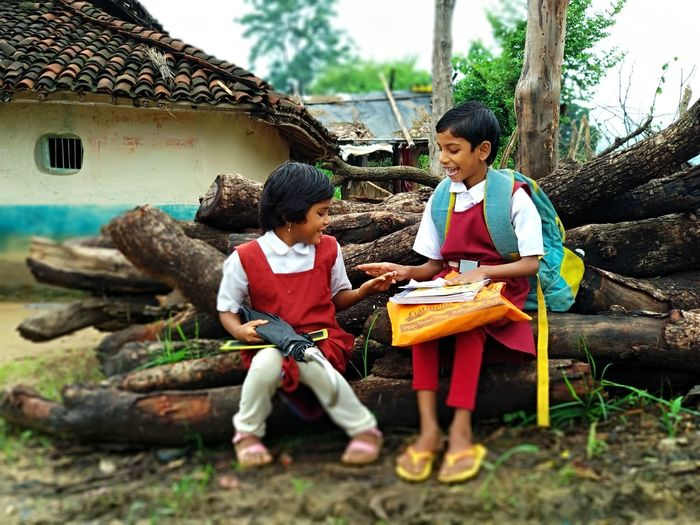 School Girls Playing Happiness Smile Child Childhood Togetherness Full Length Sitting Males  Boys Females Teamwork Friendship 50 Ways Of Seeing: Gratitude EyeEmNewHere Moments Of Happiness Capture Tomorrow 2018 In One Photograph