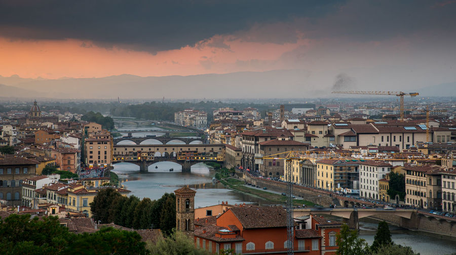 Skyline of florence city in italy