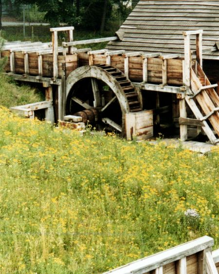 Historical Building Historic Grist Mill Waterwheel Old Watermill  Watermill New England  Wood - Material No People Architecture Rural Scene Outdoors Built Structure