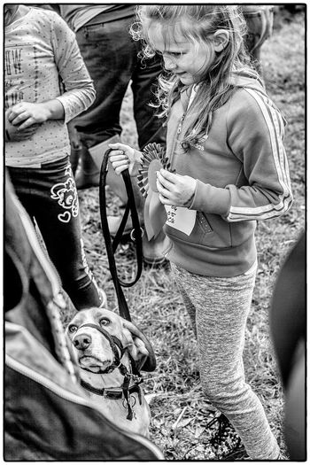 Agricultural show in Swinford, Ireland. August 2017 Ireland Competition Dog Agriculture Outdoors Girls Two People Day Togetherness Standing Lifestyles Childhood Animal Themes