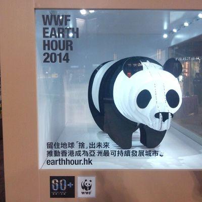 紙熊貓提提你,明日為世界自然基金會「Craft Our Future」展覽的最後一日,大家可於明日下午12-6到時代廣場與它合照。 Wwfhk Hkig 2014 Earthhour earthhourhk craftourfuture @wwfhk