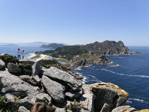 Vigo, Galicia (España) #vigo #galicia #pontevedra #spain #españa Beauty In Nature Blue Cies Islands Clear Sky Cliff Day Mountain Nature No People Outdoors Rock - Object Scenics Sea Sea And Sky Sky Water