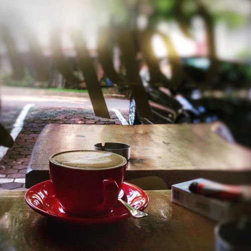 My Afternoon Cappuccino Coffee Coffee Time Chilling Drinking Smoking IPhoneography