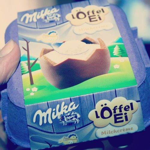 Milka Löffelei Chocolate Lila Milk Easter Egg Foodporn Love Yummi F4F Like4like Instafood Food Delicious FoodADDICT