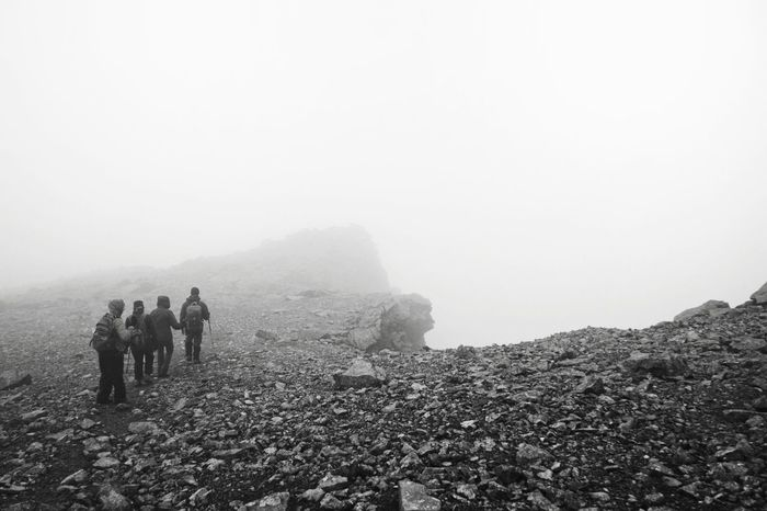 Up in the clouds. Scotland Glen Isle Of Skye Isle Of Skye Scotland Highlands Trekking Adventure Up In The Clouds Black And White Fog Mountain People Accidents And Disasters Nature Hiking Outdoors Adventure Beauty In Nature