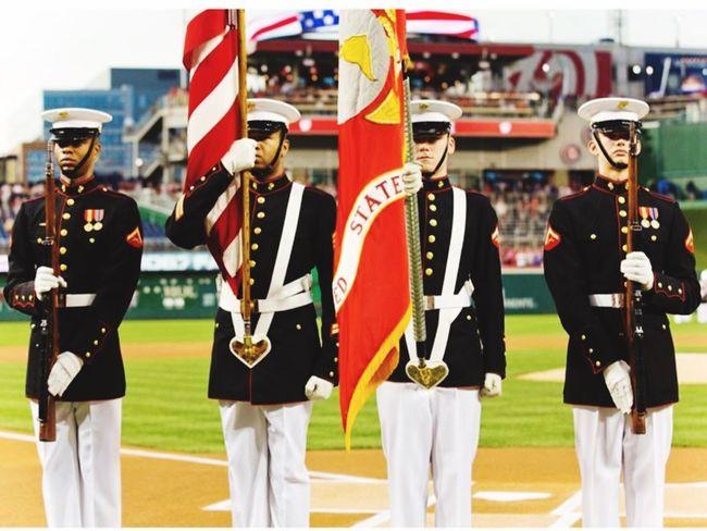 U.S Marines during a parade USA Us Military USMC Parade