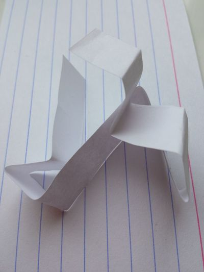 Abstract Card Folded Index Card Lines Paper Shapes