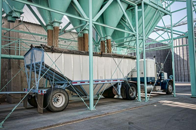 Semi-Truck Loading Rice At Mill