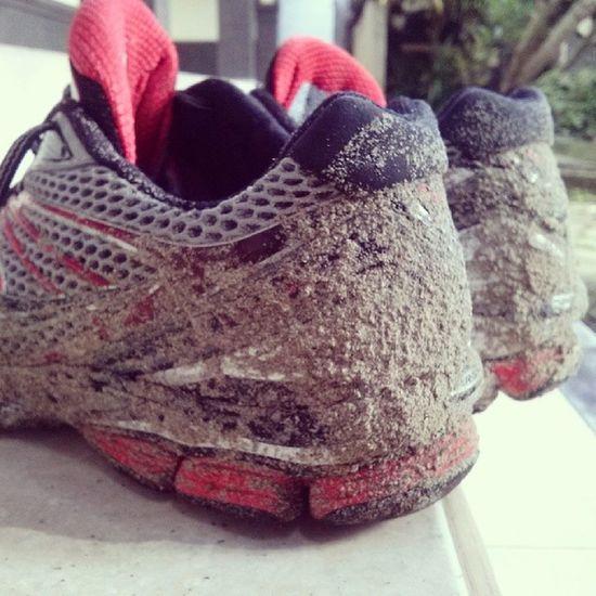 After Morningrun on the Kedonganan Beach ... Dirty :p morning run running runninggears saucony goneforarun january sneakers sands