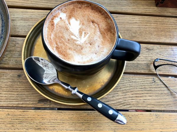 Breakfast Morning Cappuccino Close-up Coffee Coffee - Drink Coffee Cup Crockery Cup Cup Of Coffee Drink Eating Utensil Food And Drink Freshness Frothy Drink Hot Drink Kitchen Utensil Mug No People Non-alcoholic Beverage Refreshment Spoon Still Life Table Teaspoon