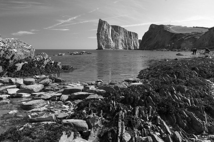 Autumn EyeEmNewHere Quebec Travel Blackandwhite Canada Cliff Fall Landscape Outdoors Perce Percé Rock Rock Rock - Object Sea Travel Destinations Water