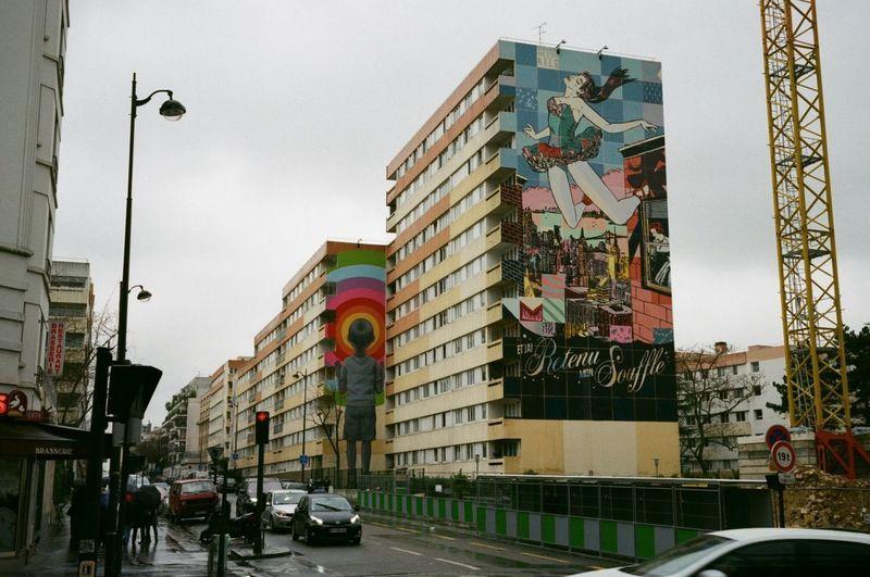 Leicaminilux Street Art/Graffiti Agfavista400 Building Exterior City Street Art Streetphotography