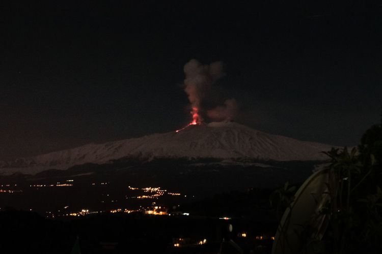 Catania Volcano Mountain Smoke - Physical Structure Erupting Geology Night Environment Power In Nature Land Nature Lava Power Sky Active Volcano No People Beauty In Nature Landscape Emitting Sign Communication Volcanic Crater Outdoors Mountain Peak Pollution Air Pollution