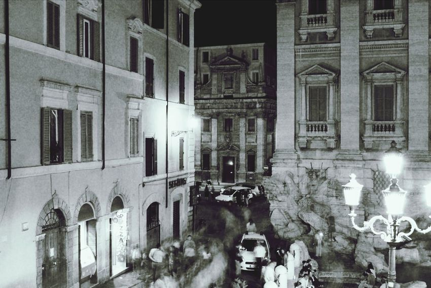 Black And White Street Photography Crowded Street Rome