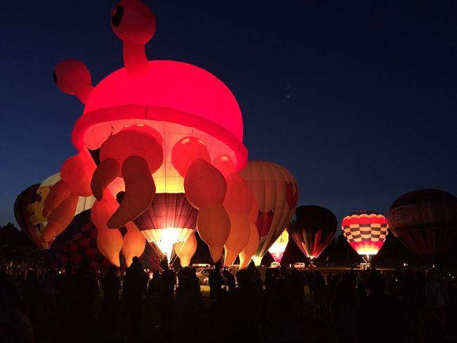 Hot Air Balloon Festival Balloon Glow Balloon Fun Glow In The Dark Glowing Fun