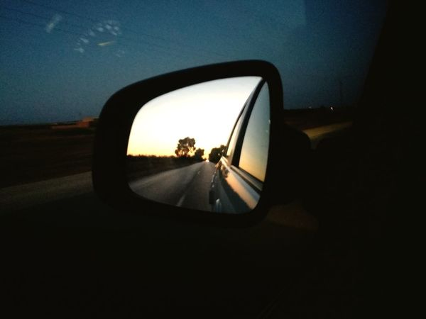Vehicle Mirror Road Land Vehicle Car Side-view Mirror Road Trip Reflection Mirror Sky Car Interior Point Of View EyeEmNewHere My Best Travel Photo A New Beginning