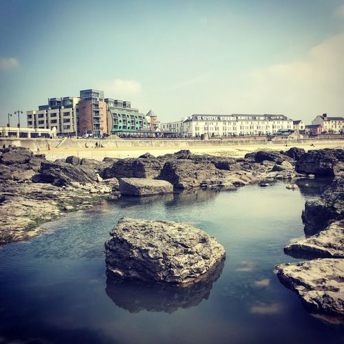 Porthcawl Porthcawl South Wales Wales UK Water Sky Building Exterior Architecture City Nature Built Structure Sea Rock Waterfront