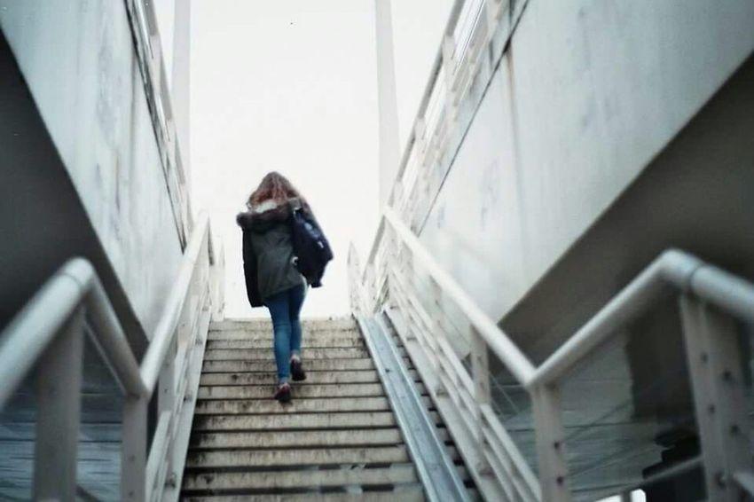 Analogic film of my great friend Adele. Analogue Photography Oldschool Urban Geometry Urban Landscape EyeEm Best Shots Bridge Stairs Friend Exploring .