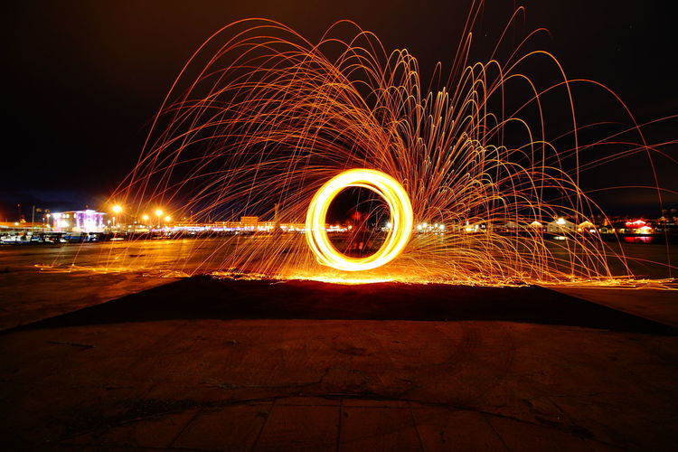 Wire wool what can i say :O) EyeEm Best Shots EyeEm Selects EyeEm Gallery Architecture Blurred Motion Burning City Glowing Illuminated Light Light Painting Light Trail Long Exposure Motion Nature Night One Person Outdoors Pattern Real People Sky Sparks Speed Spinning Wire Wool