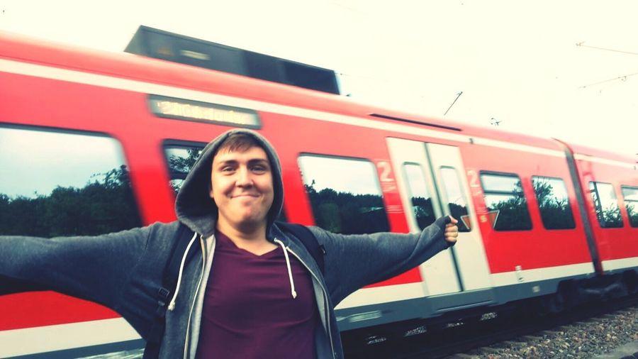 Brother Zug Train Train Tracks Traveling Casual Clothing Happy Happiness Enjoying Life Summer Walk After The Rain Morning Light Living @Teodor Cosmin Deutschland