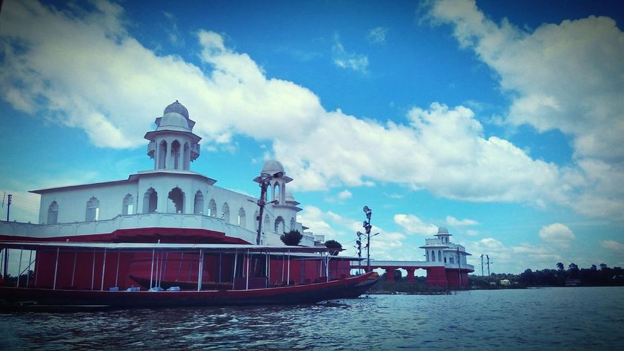Neermahal - the ancient house on water Cloud - Sky Water Outdoors Architecture KINGDOM Palace Ancient Architecture Tourist Attraction  EyeEm Gallery EyeEmNewHere EyeEm Best Shots