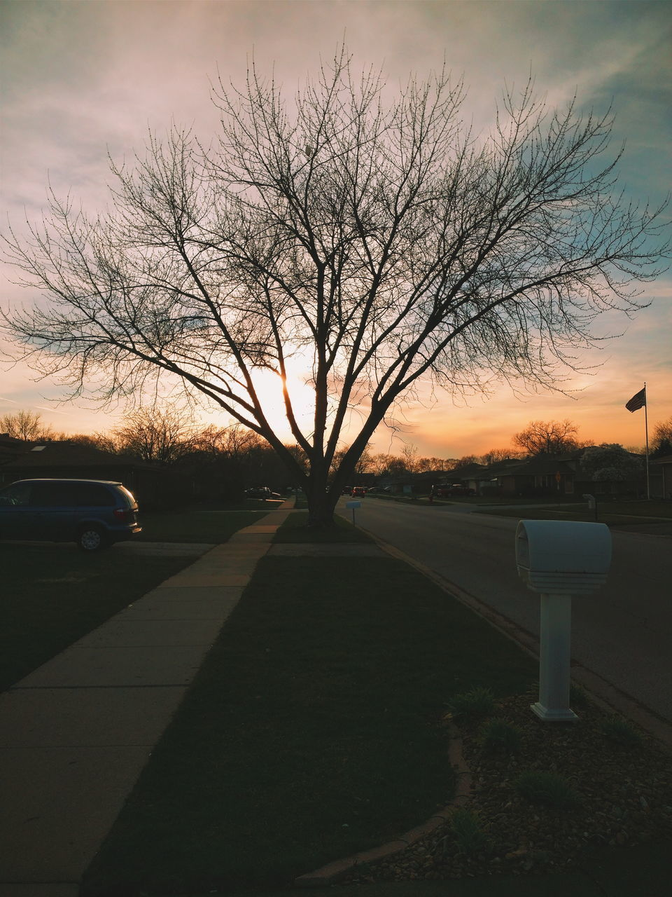 Empty Road Against Sky At Sunset
