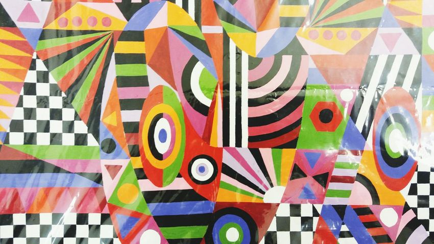Urban Art - Artist Alfredo Barbosa de Oliveira, Gouache Multi Colored Pattern Urbanphotography Artwork 👌 Art Brasilianart