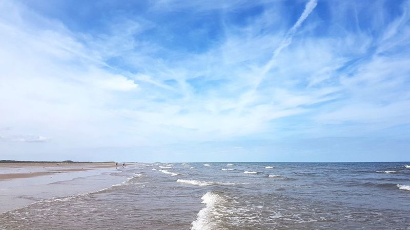 Beach Sea Horizon Over Water Water Sand Cloud - Sky Blue Tranquility Tranquil Scene Scenics Sunny Vacations Sky Nature Beauty In Nature Day Landscape Outdoors Sun Holkham Holkham Beach Norfolk Summer No People Tranquility