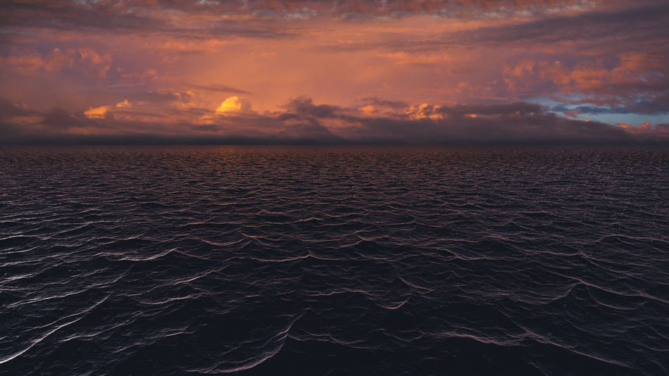 Sunset over the ocean Beauty In Nature Cloud - Sky Horizon Horizon Over Water Idyllic Nature No People Outdoors Scenics - Nature Sea Sky Sunset Tranquil Scene Tranquility Water