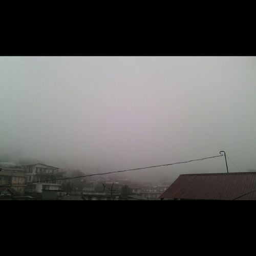 After the rain visits the fog....Shillong_weather Unpredictable_weather ....☁☁☁