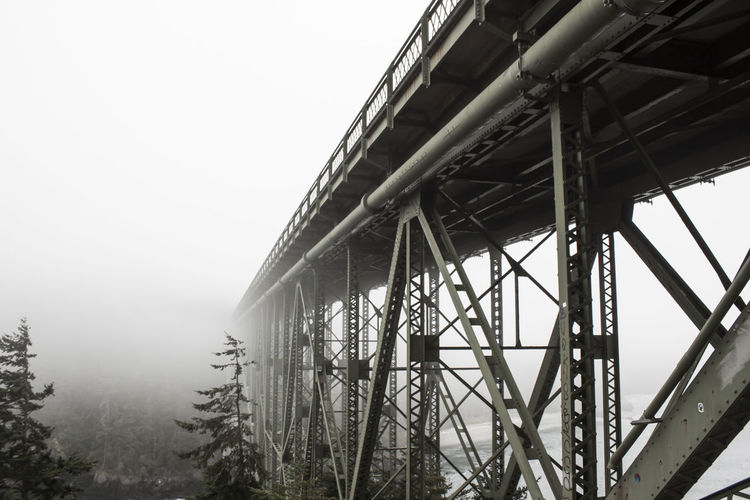 Built Structure Architecture No People Tranquil Scene Tranquility Bridge Fog Steel