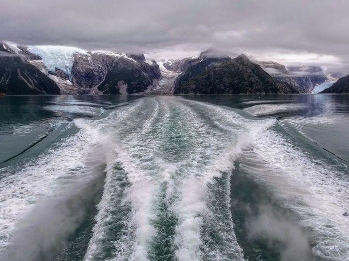 Receding Glaciers Glaciers Melt Glacier Glaciers Global Warming Alaska Water Sea Wave Motion Mountain Spraying Sky