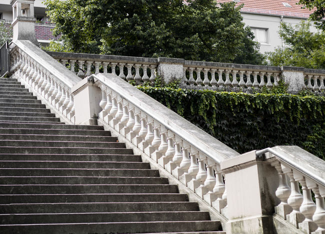 Architectural Column Architecture Building Exterior Built Structure Day Nature No People Outdoors Railing Staircase Steps Steps And Staircases Tree