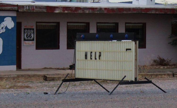 Abandoned Diner Disrepair Hard Times Help Help Sign No People Poor  Route 66 Sad Unnerving Windows