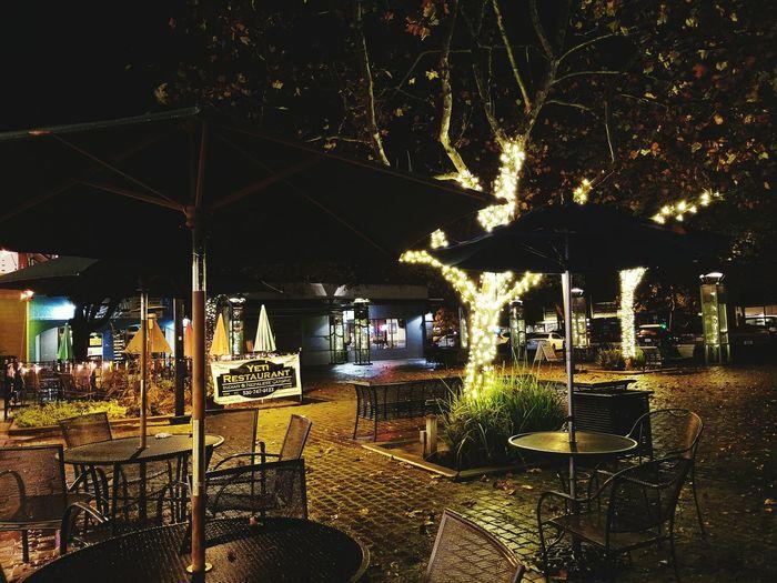 Public Square, Davis California Illuminated City Christmas Decoration No People Night First Eyeem Photo