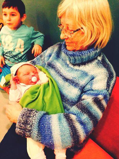 Family Matters Happiness Newborn Beautiful my grandma, my cousin Elias and my newborn cousin Lina :)